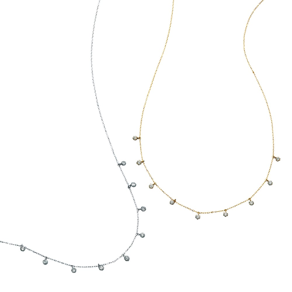 K18 ダイヤフリンジ ネックレス