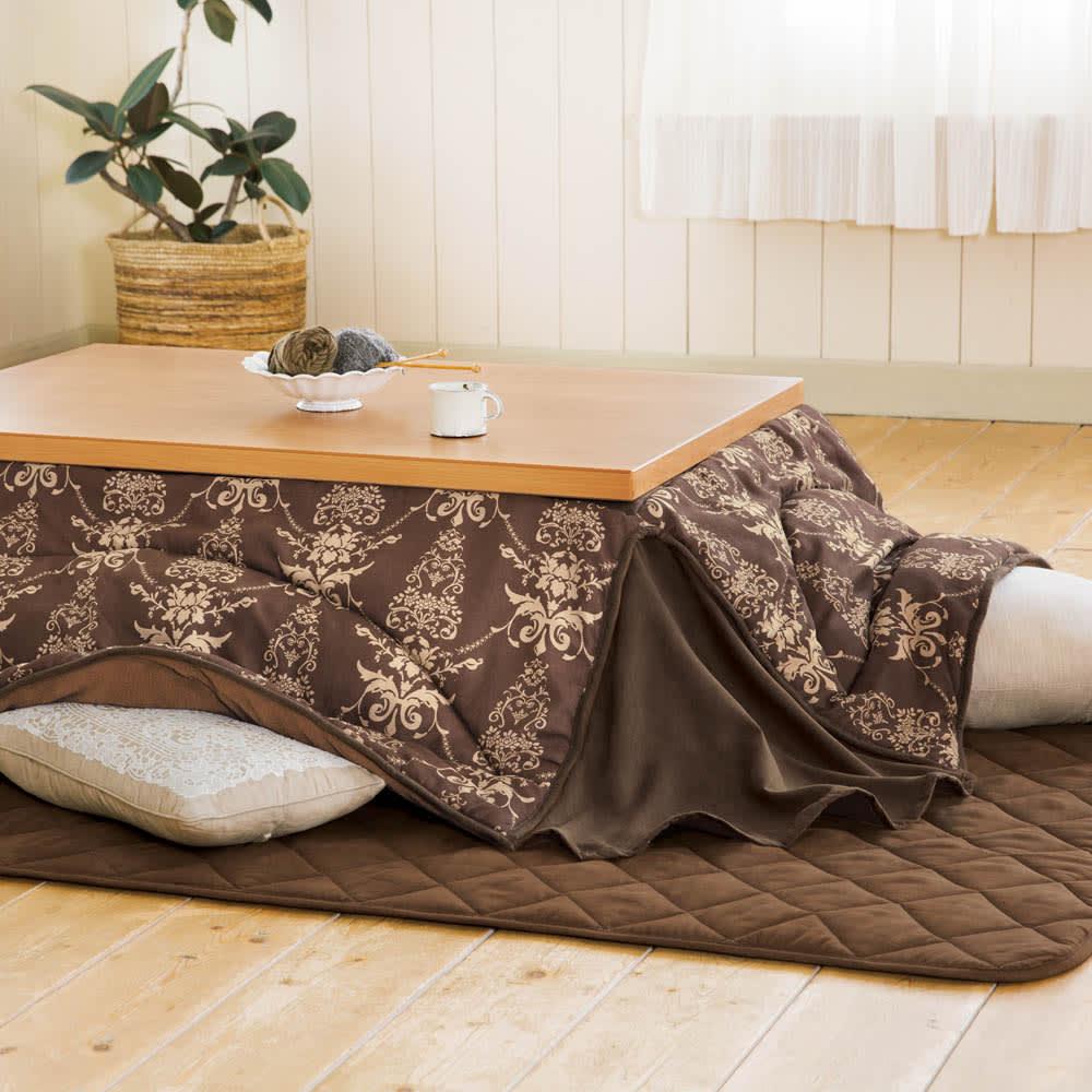 【4長方形・大】190×260cm ふっくら贅沢ボリューム省スペースこたつ掛け布団