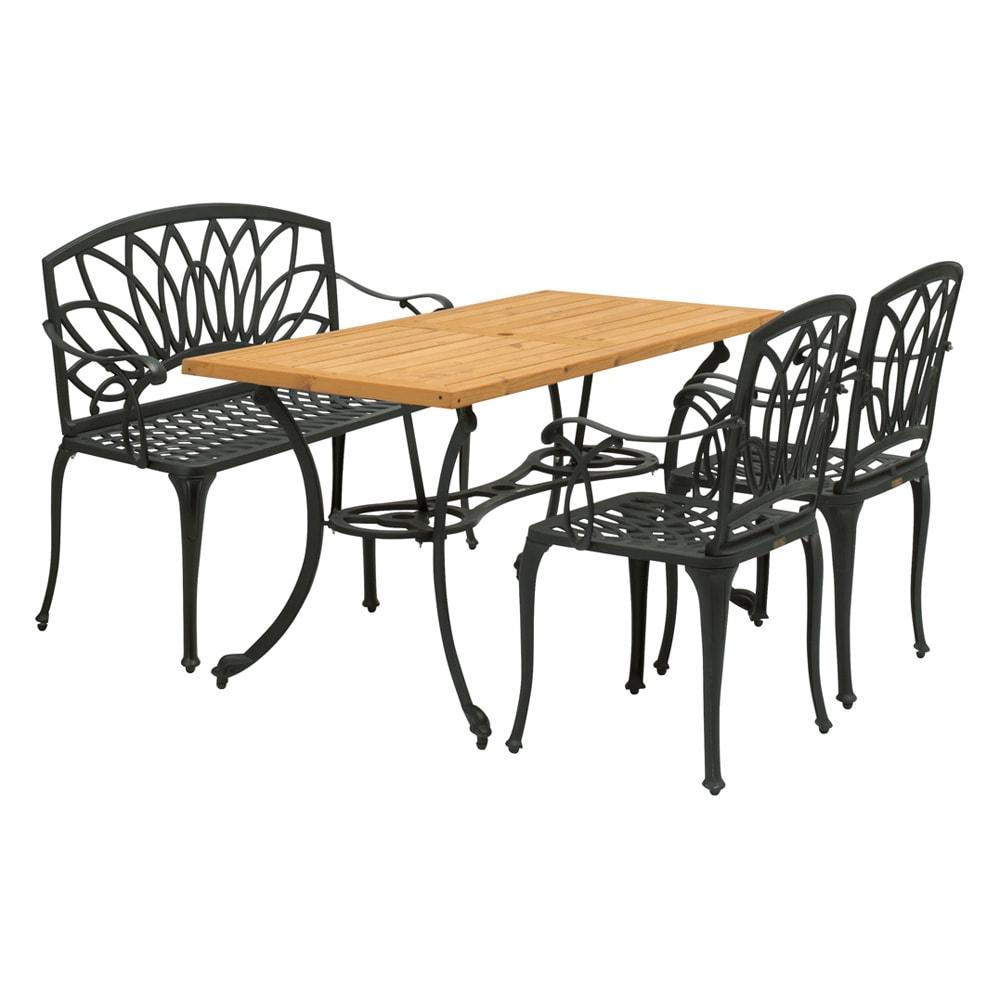 g-STYLE サーモウッドテーブル 4点セット
