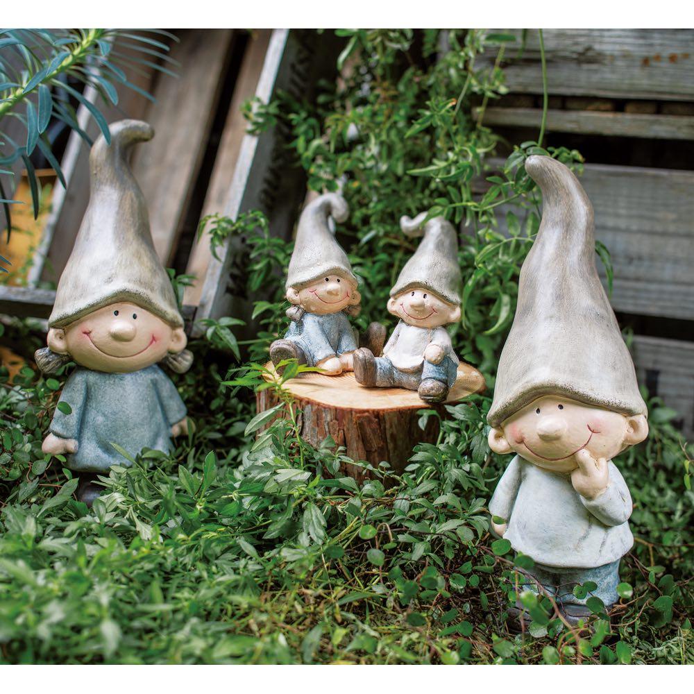森の男の子女の子4人セット
