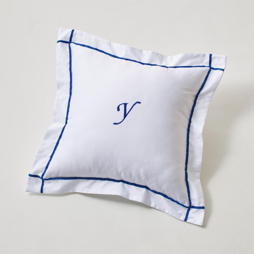 ホテル仕様超長綿サテンカバーリング Ciel シエル 刺繍クッションカバー(1枚)