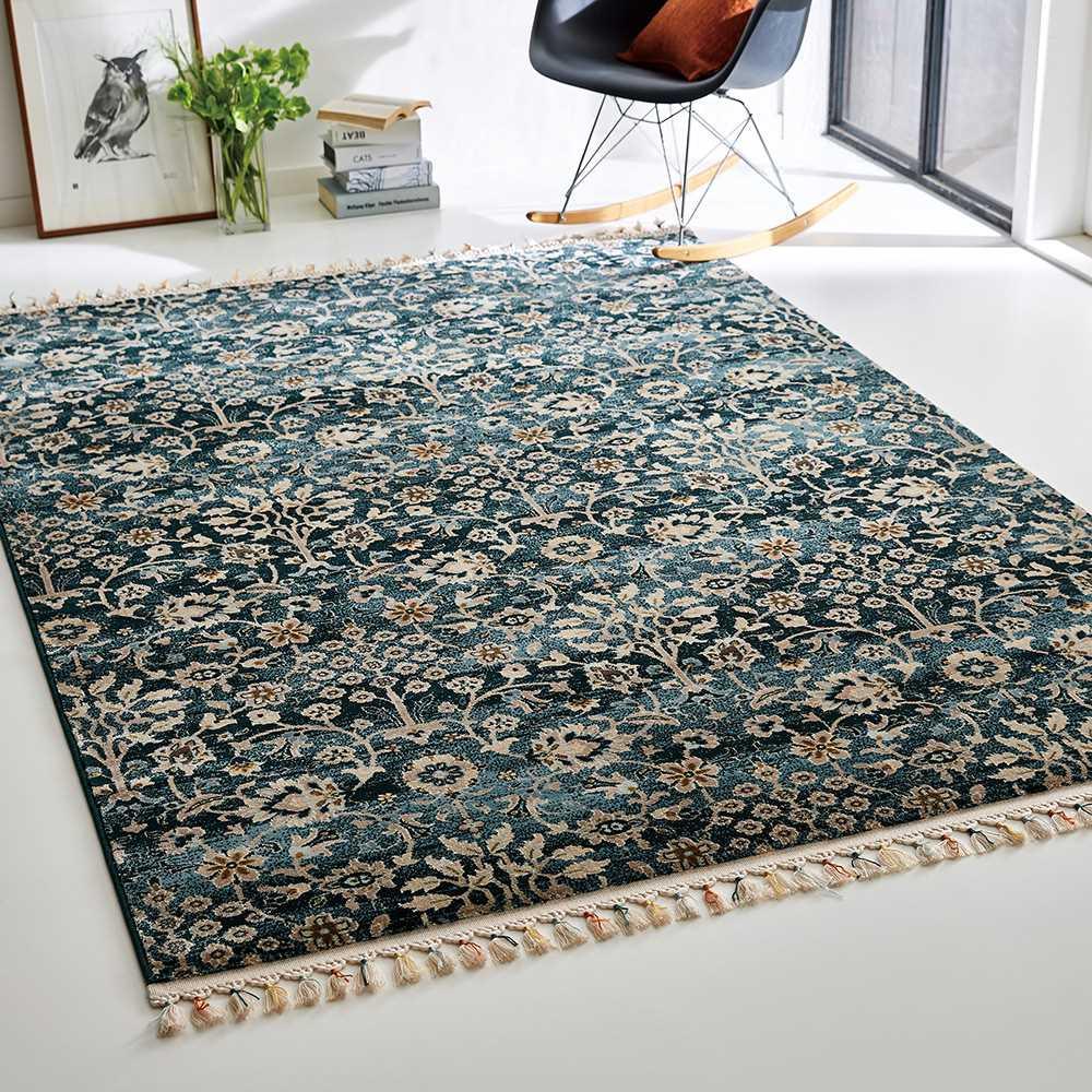 約160×230cm トルコ製ウィルトン織ラグ〈アクアホーム〉