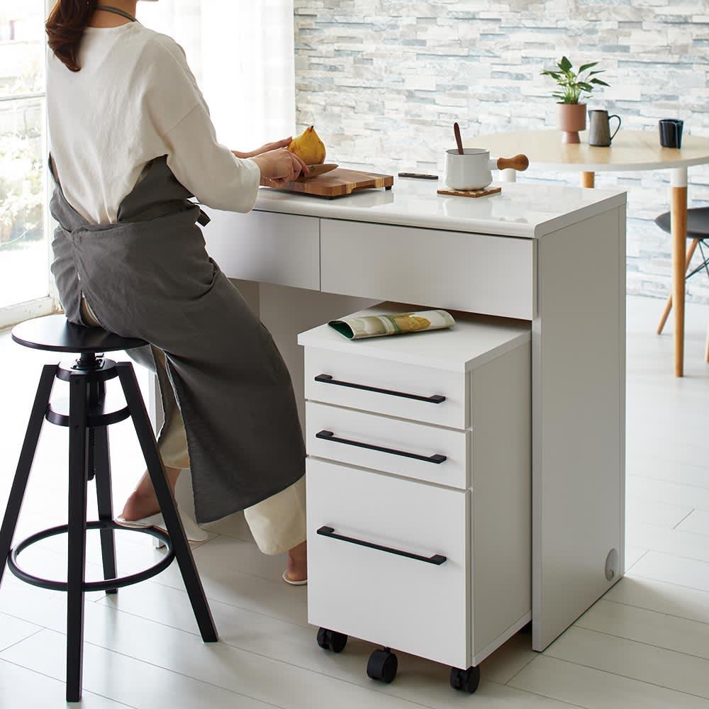 Ruffalo/ラファロ 間仕切りキッチンカウンター 幅100cm高さ85cm