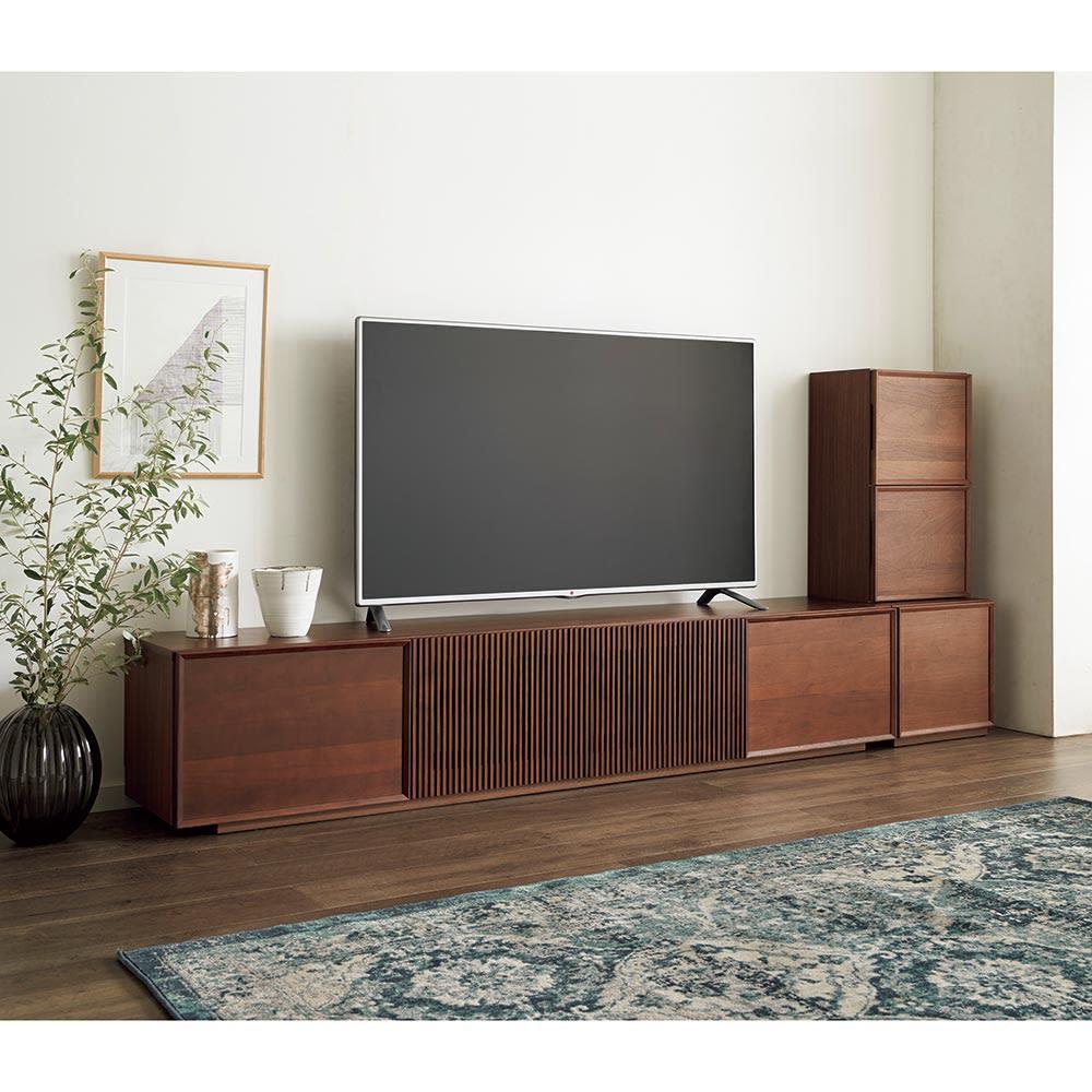 E&W/イーアンドダブリュ 天然木テレビボード テレビボード 幅210.5