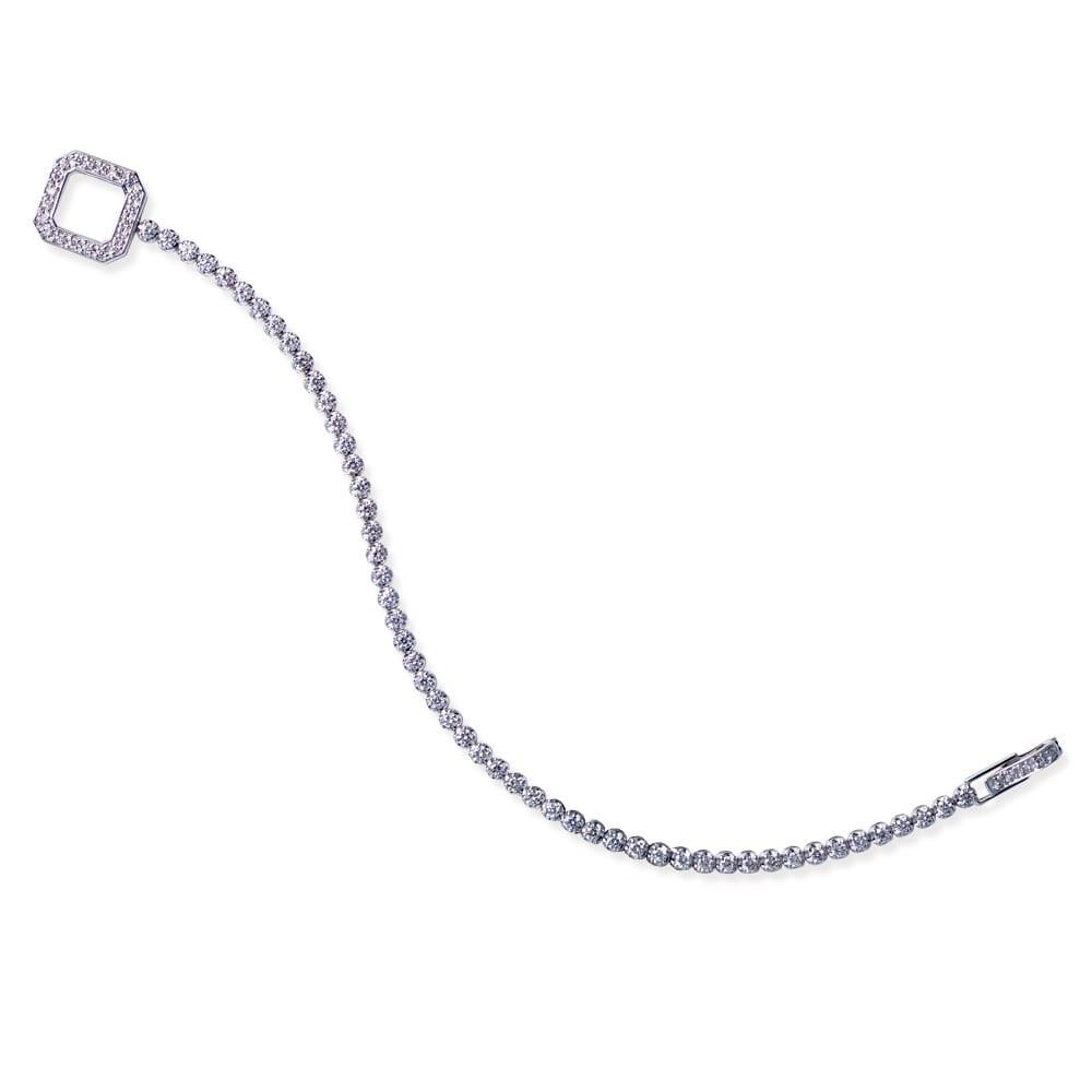 K18WG 2ctダイヤ デザイン ブレスレット