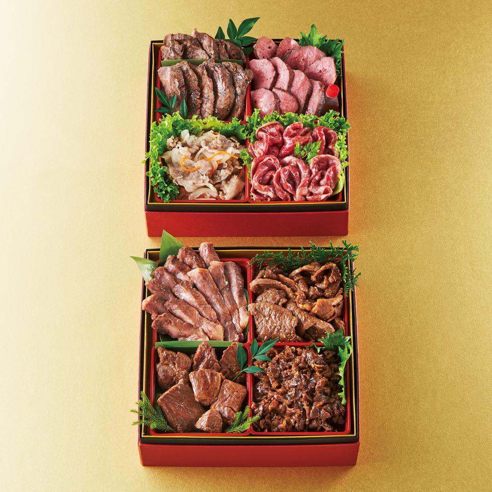 「肉のいとう」 贅沢お肉食べ比べ二段重 (約3~4人前)