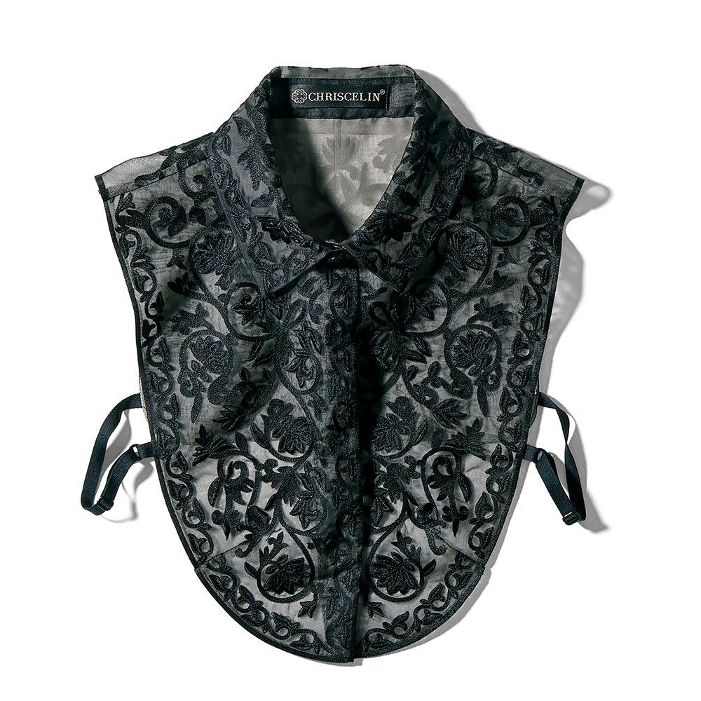 CHRISCELIN/クリスセリーン チカン刺繍使い 付け襟