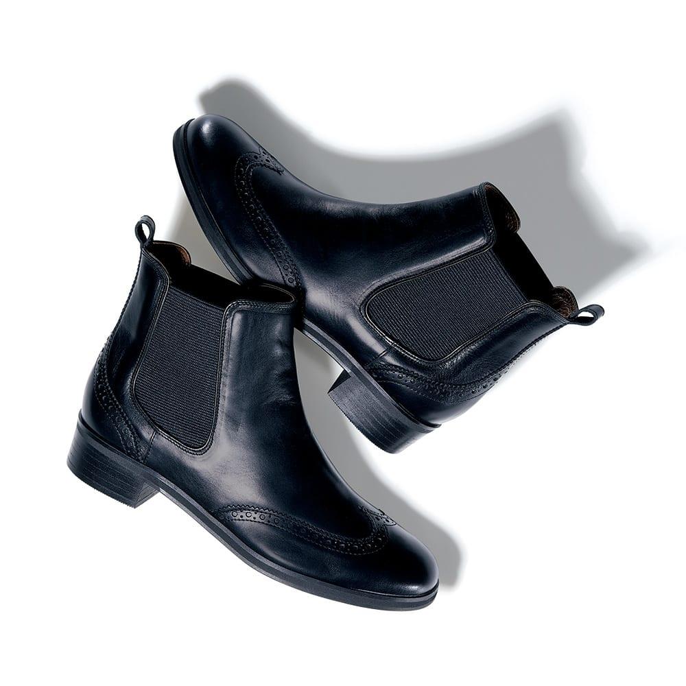 ATELIER BRUGGE/アトリエブルージュ ウイングチップ サイドゴア ブーツ