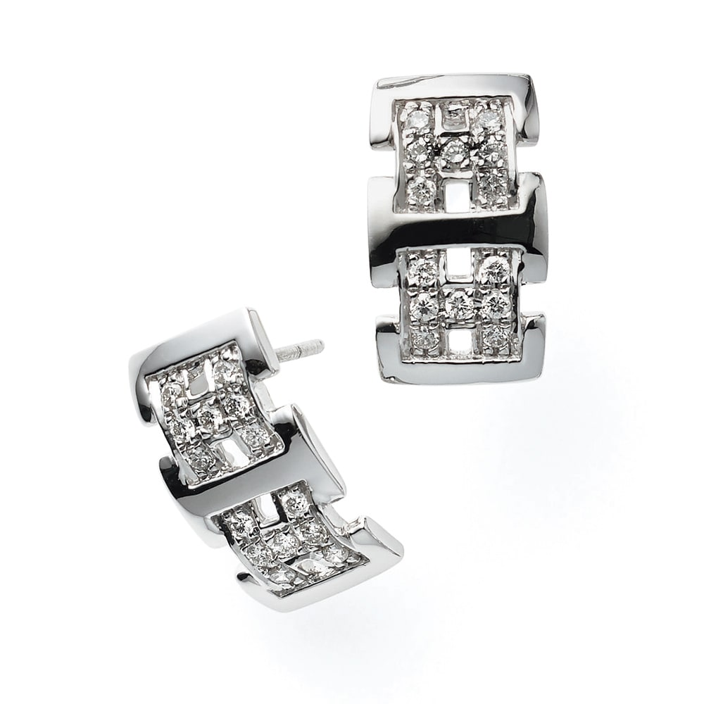K18 0.4ctダイヤ デザイン ピアス