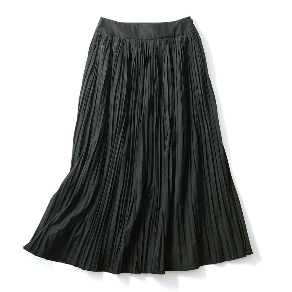 コットン混ローン ランダムプリーツ スカート