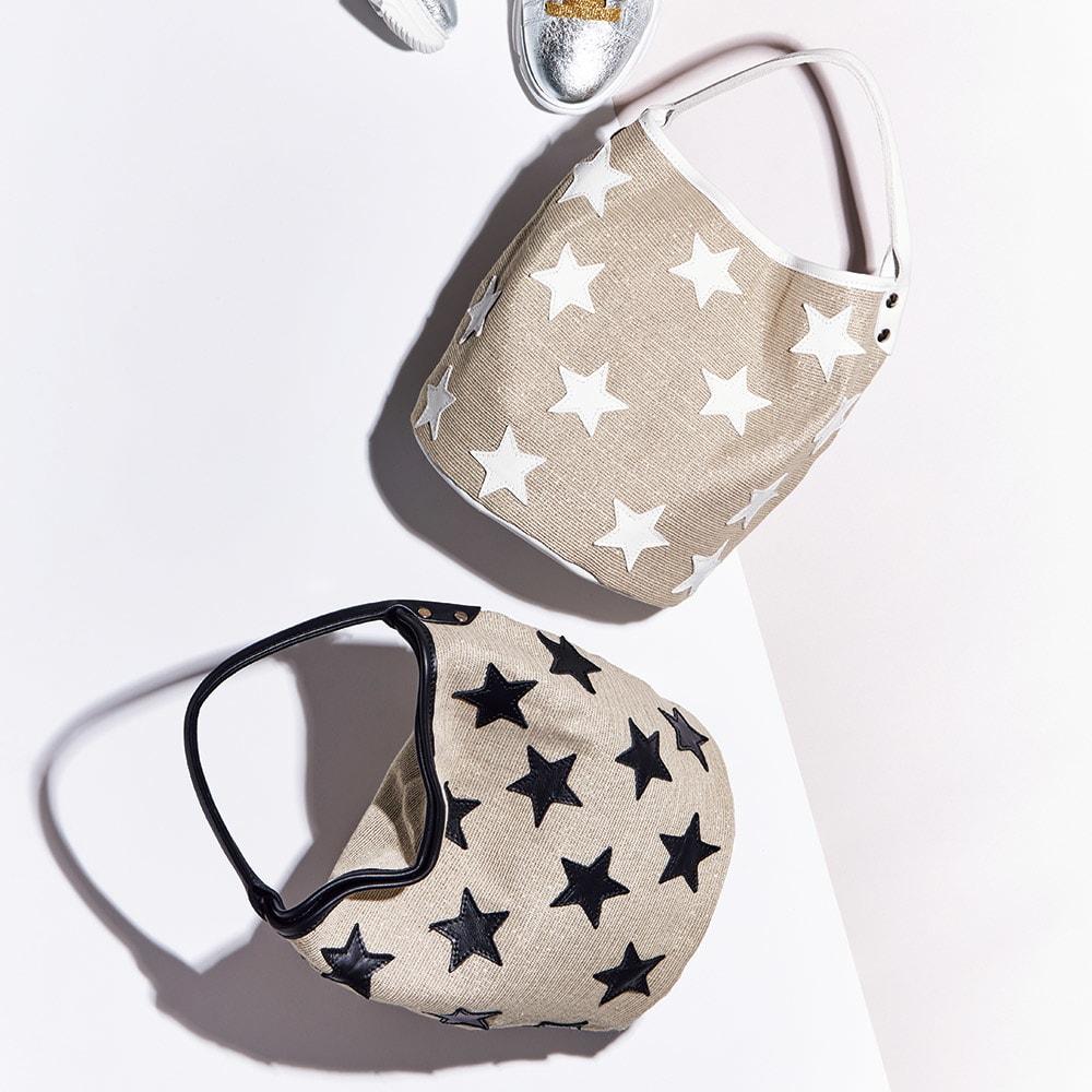LAURA DI MAGGIO(R)/ラウラ ディ マッジオ スターモチーフ ワンハンドル バッグ(イタリア製)