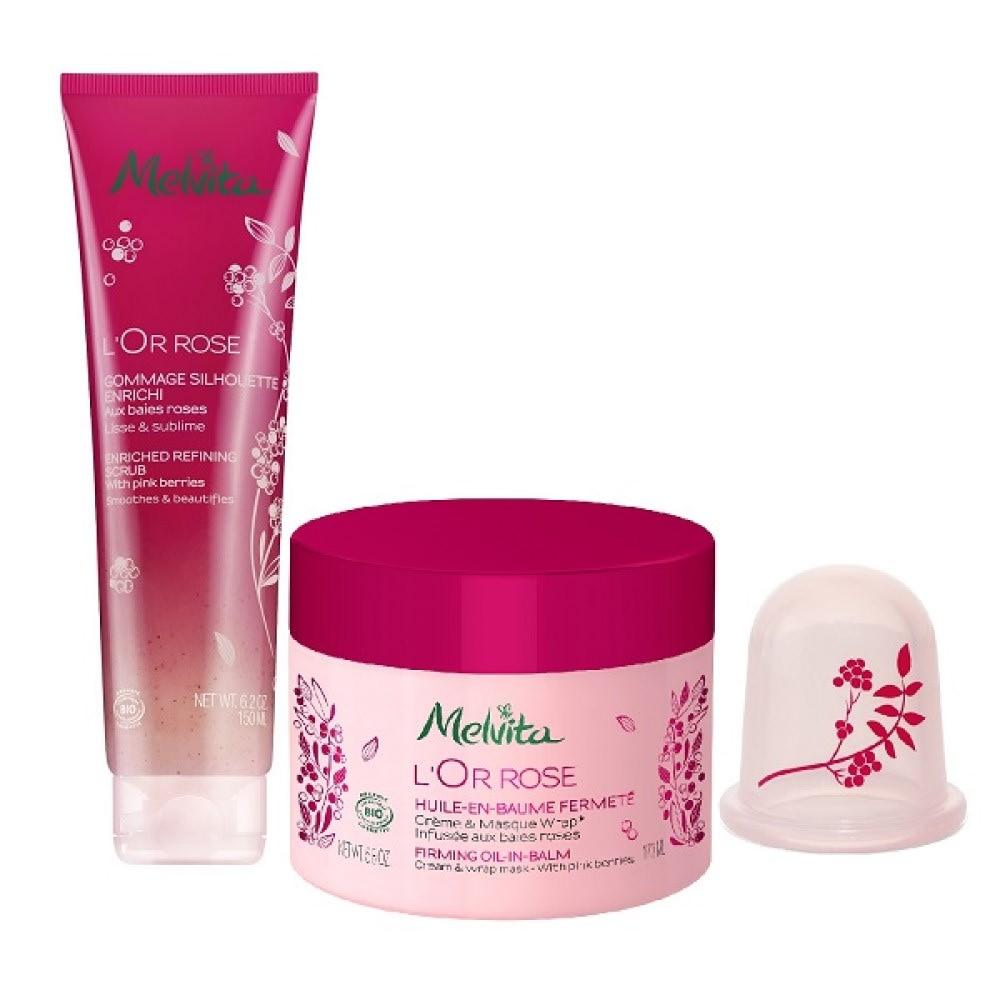 Melvita/メルヴィータ ピンクのオータムボディケアセット