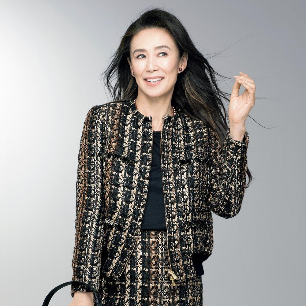 マリア・ケント社 グラデーション ツイード ジャケット