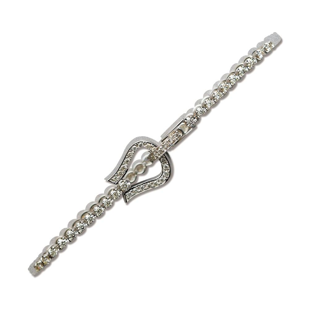 K18WG 2ctダイヤ 馬蹄 ブレスレット