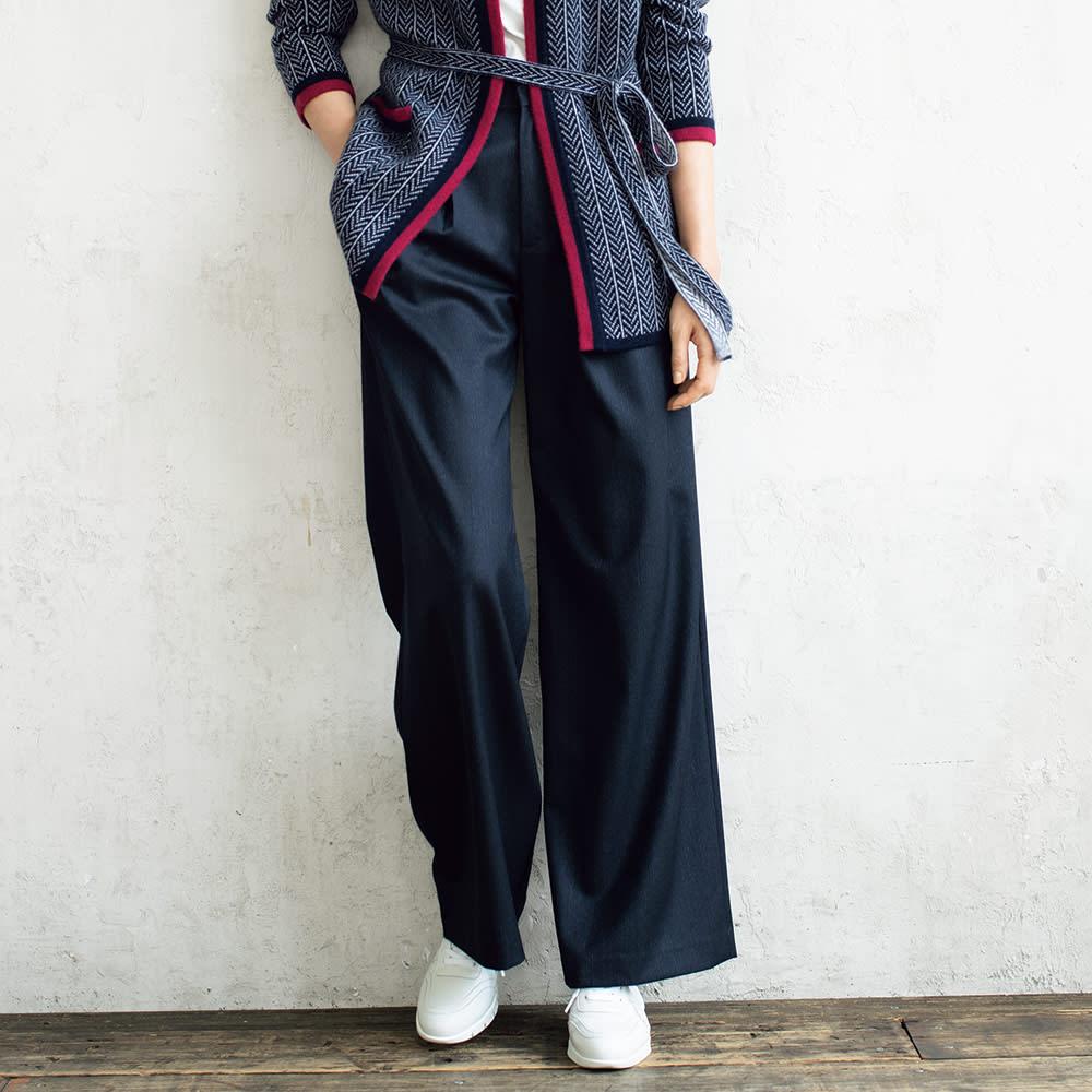 「NIKKE」 マフ ストレッチデニム 2タックパンツ 【股下丈68/74cm】
