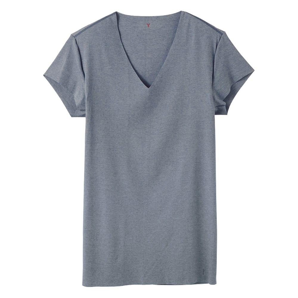GUNZE/グンゼ YG(ワイジー)脇パッド付 深VネックTシャツ同色2枚組