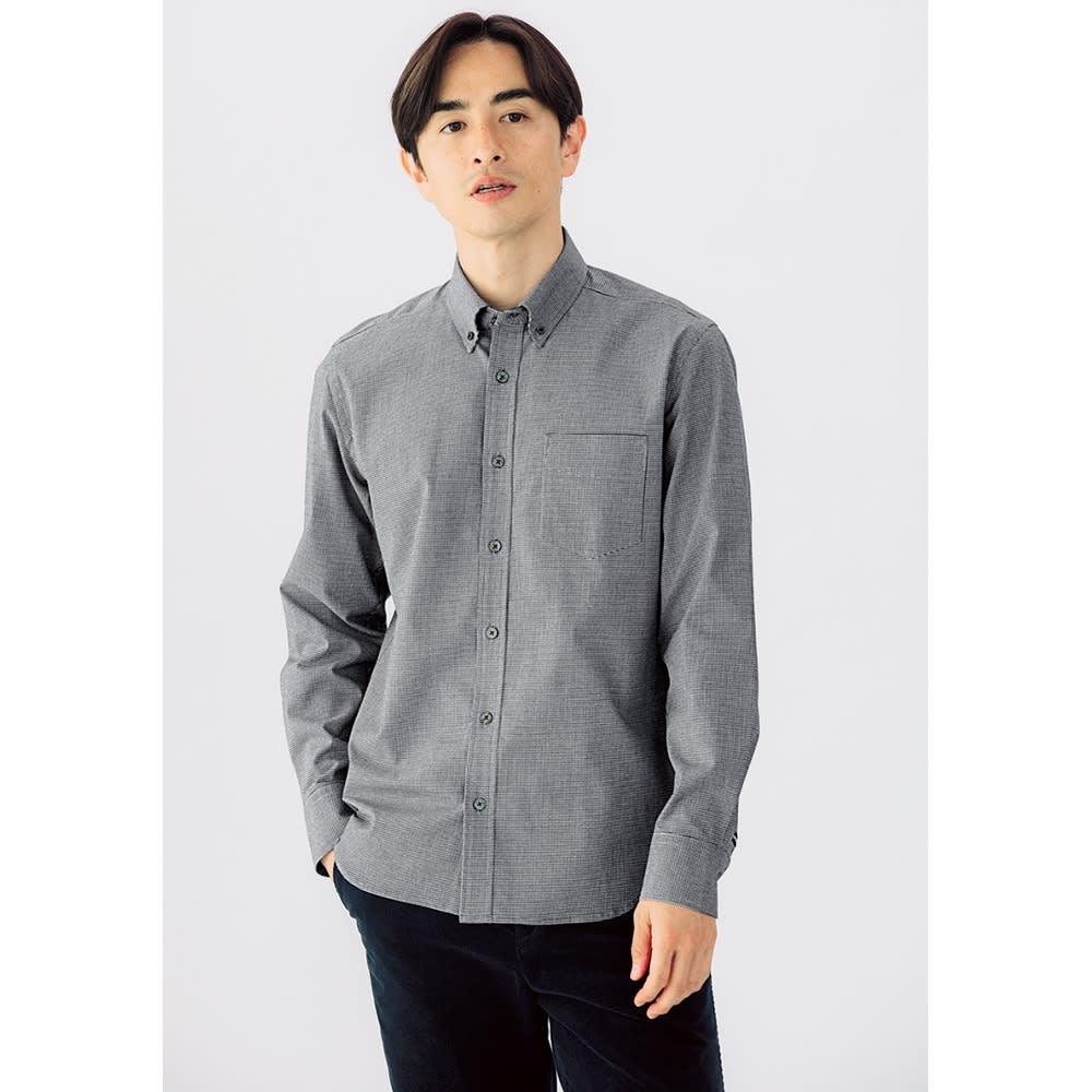 SCENE® 7DAYSジャパンメイドシャツシリーズ 千鳥 レギュラータイプ