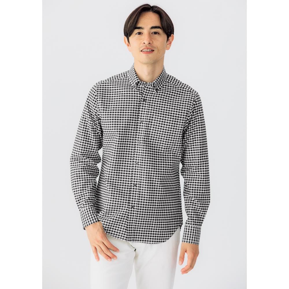 SCENE® 7DAYSジャパンメイドシャツシリーズ オックスギンガム レギュラータイプ