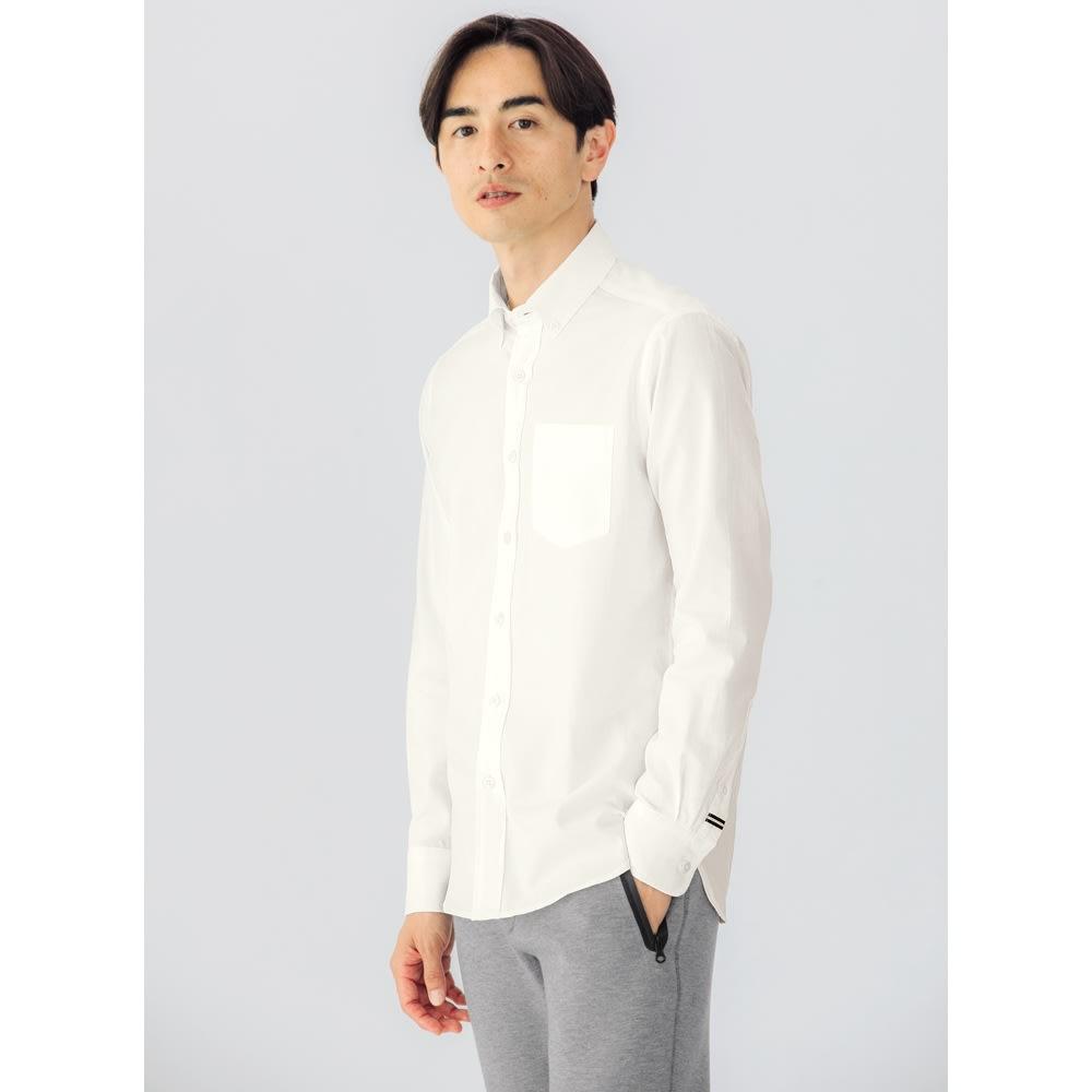 SCENE® 7DAYSジャパンメイドシャツシリーズ ホワイトツイル