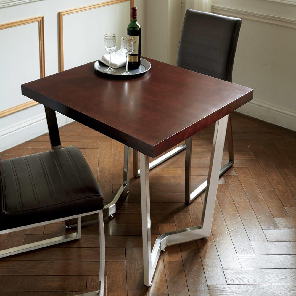 コンパクトモダンダイニング テーブル 幅85cm