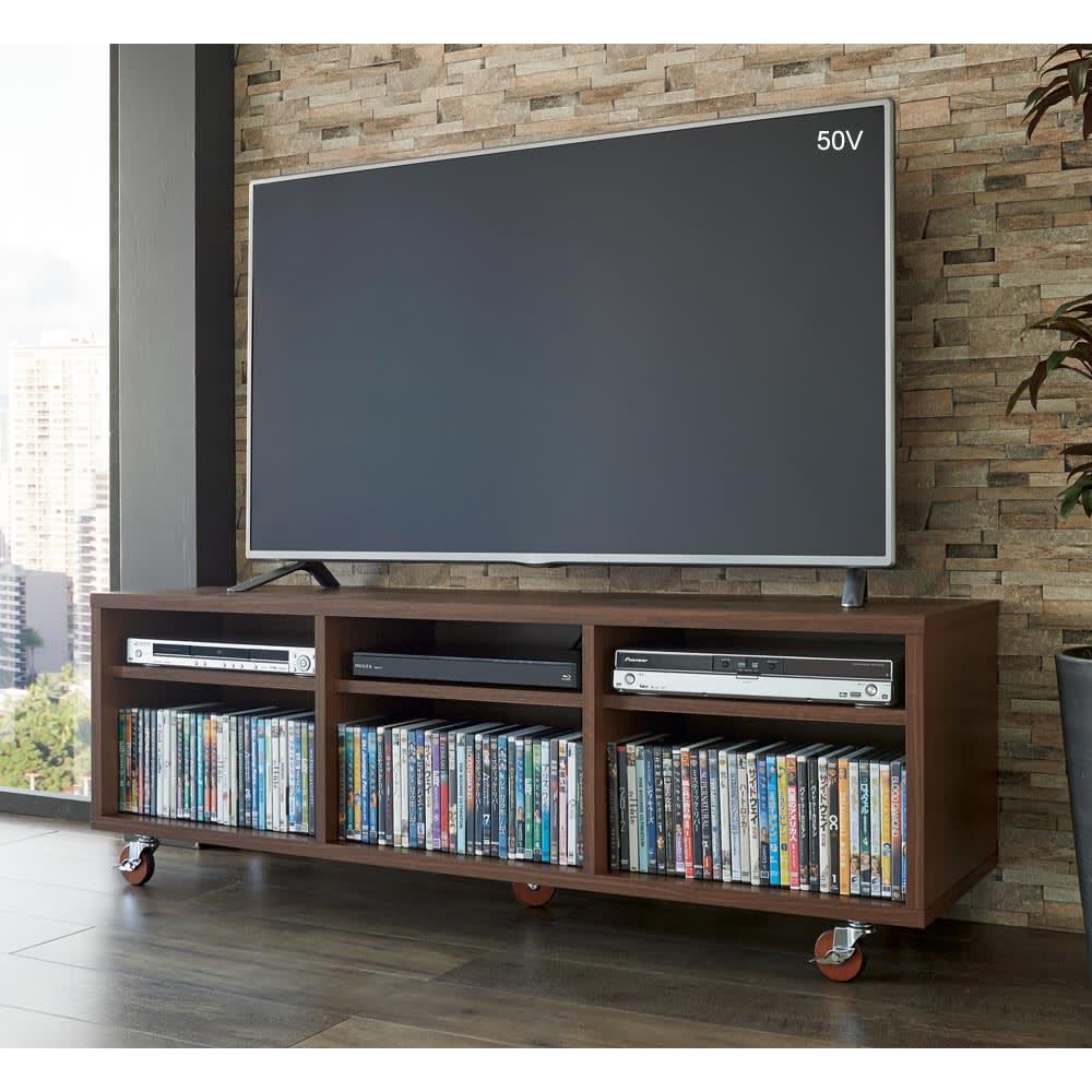 配線すっきりキャスターテレビ台 オープンタイプ 幅150cm