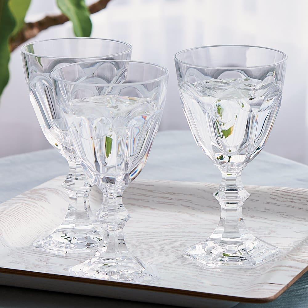 MARIOLUCA/マリオルカ 樹脂製のワイングラス2脚組(ブラック)