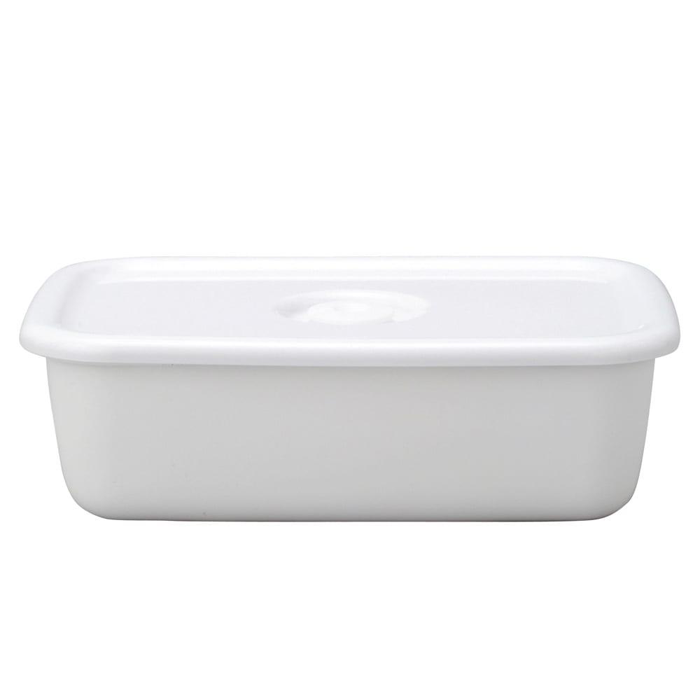 野田琺瑯ホワイトシリーズ レクタングル深型L・密封蓋