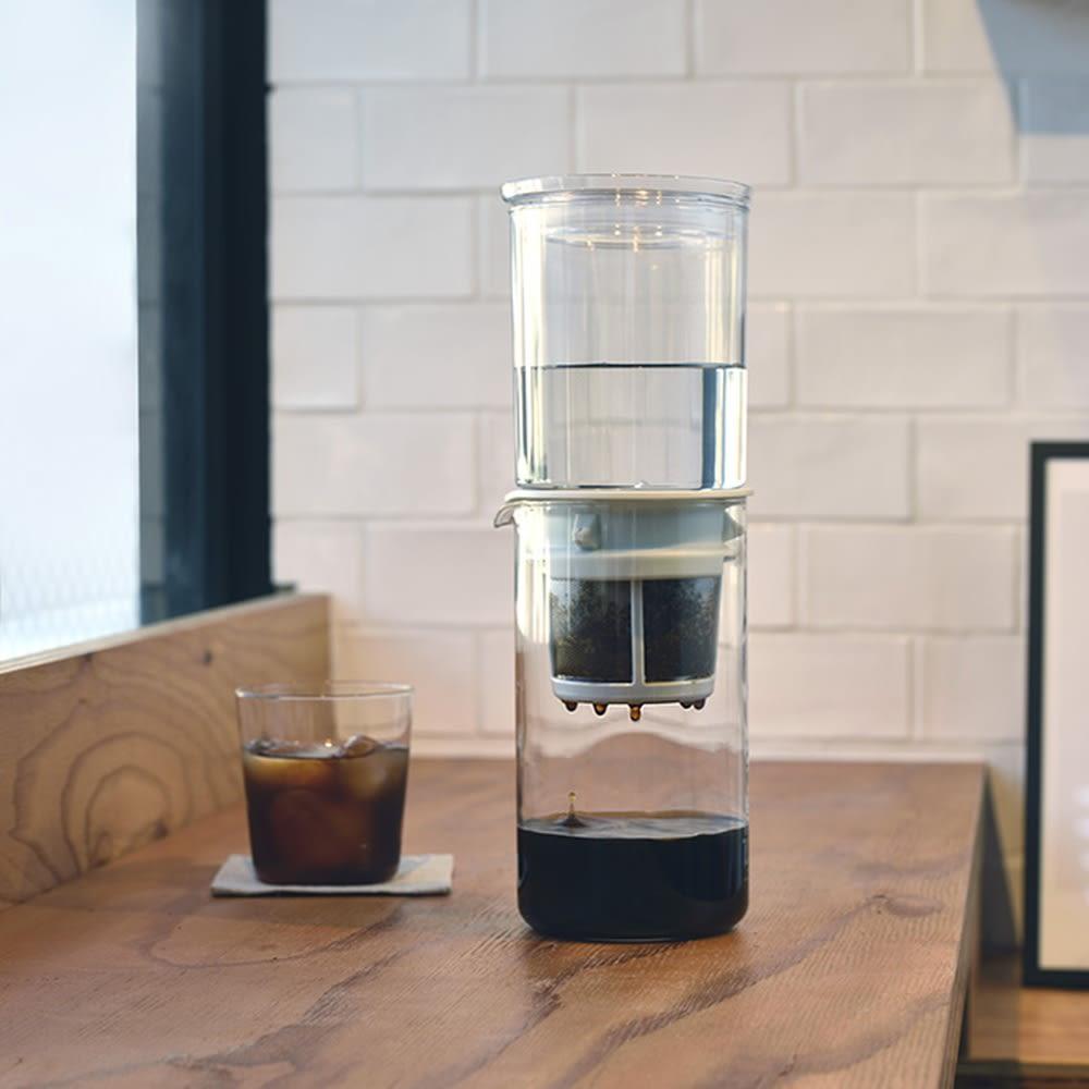 頭と体を冷ますブレイクタイムで、もう一仕事はかどる<br />HARIO/ハリオ ウォータードリッパー・ドロップ 水だしコーヒーメーカー