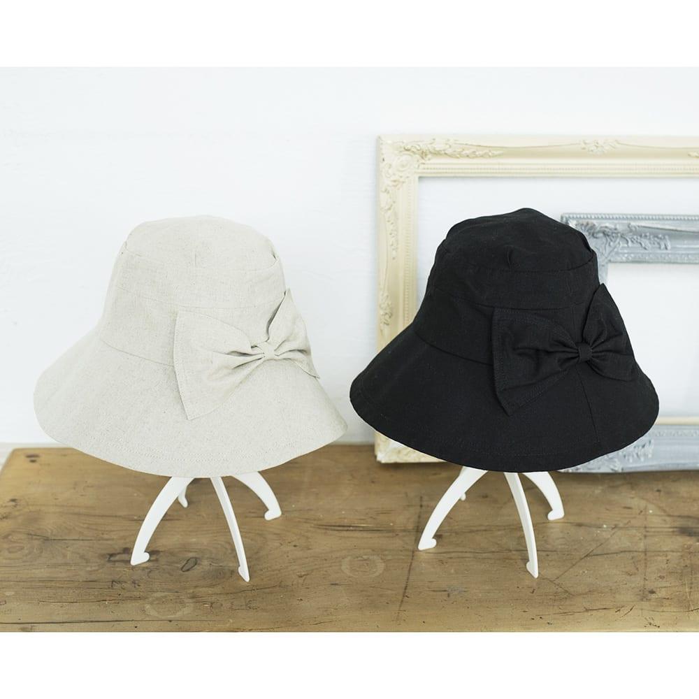 折りたためるつば広UV帽子