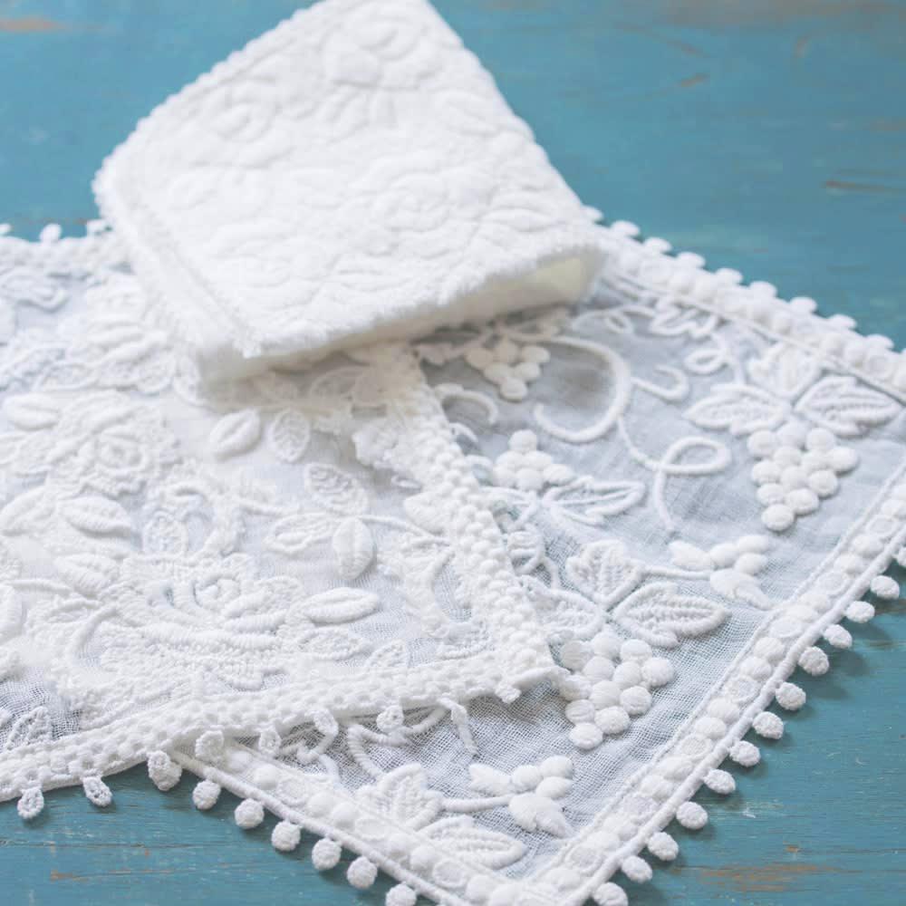 刺繍タオルハンカチ「ミコノス」3柄セット