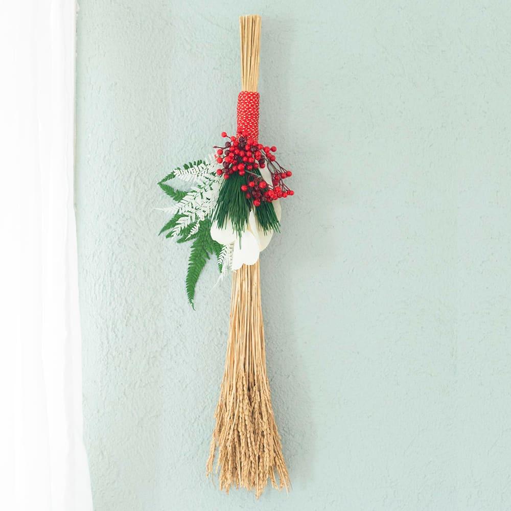 プリザーブド稲穂の正月飾り