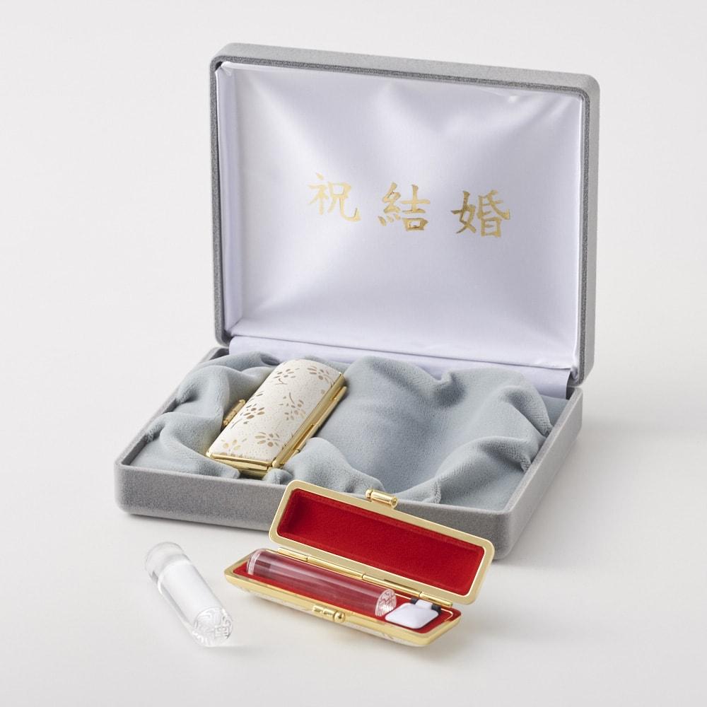 お祝い印鑑 水晶2本セット(実印・銀行印)