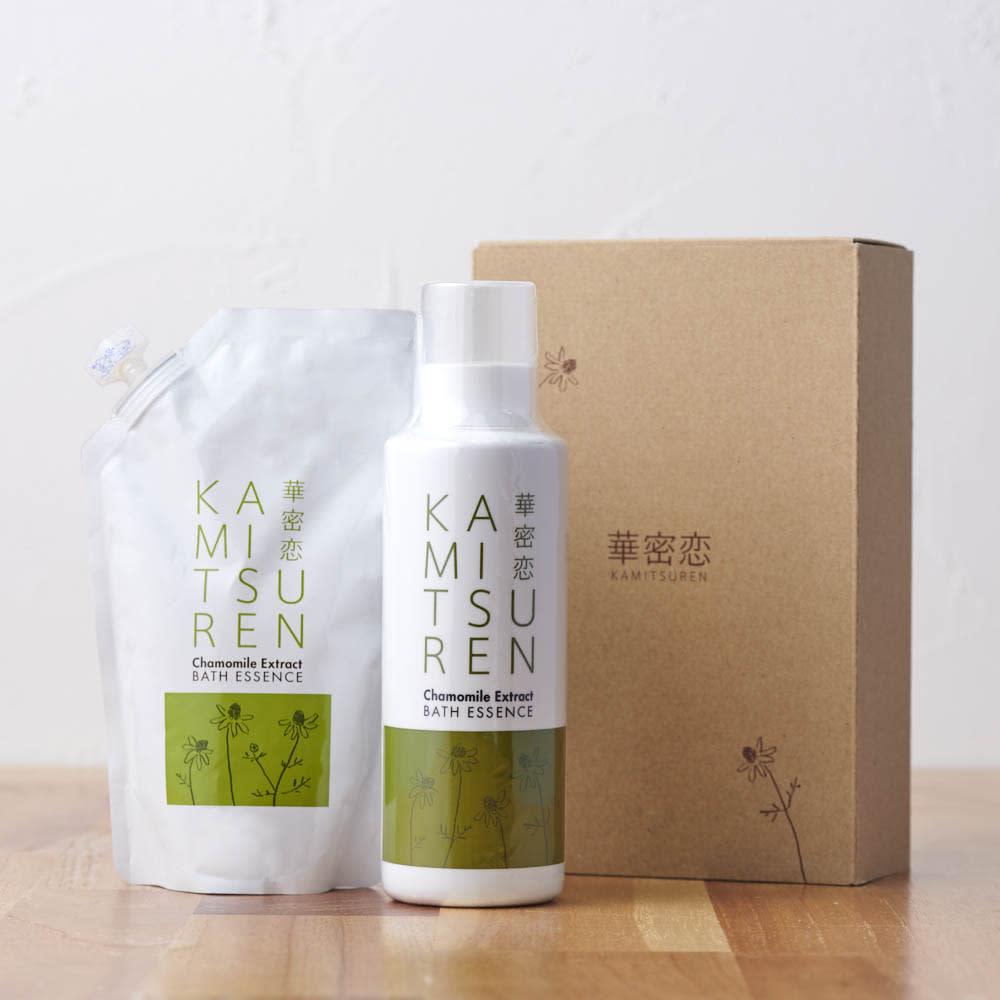 華密恋(カミツレン)薬用入浴剤ギフトセット(400mLボトル+詰替用350mL)