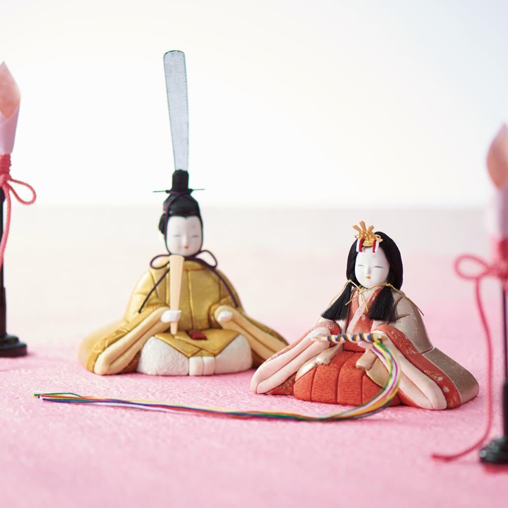 〈箔一〉 金沢箔布木目込み雛人形