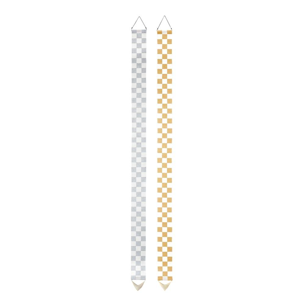 〈京都洛柿庵〉縁起飾り細タペストリー 【市松】 ※2点以上5%オフ
