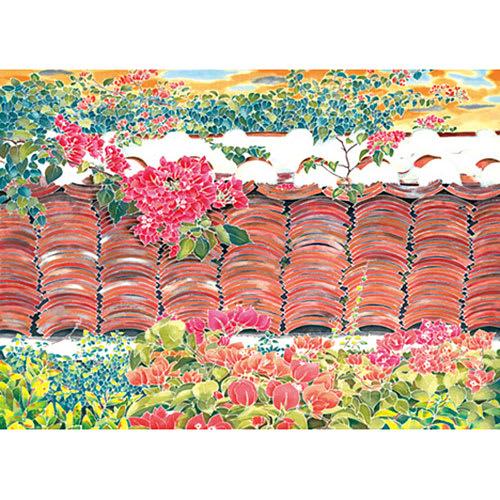 落陽の赤瓦塀(アカガワラベイ)