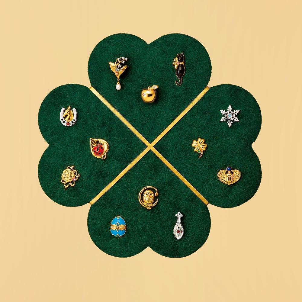【毎月届く 頒布会】世界のラッキーモチーフ宝飾ピンブローチコレクション