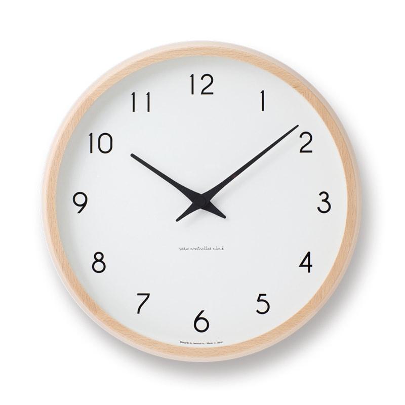 【第2位】Lemnos(レムノス)Campagne(カンパーニュ) ウォールクロック壁掛け電波時計