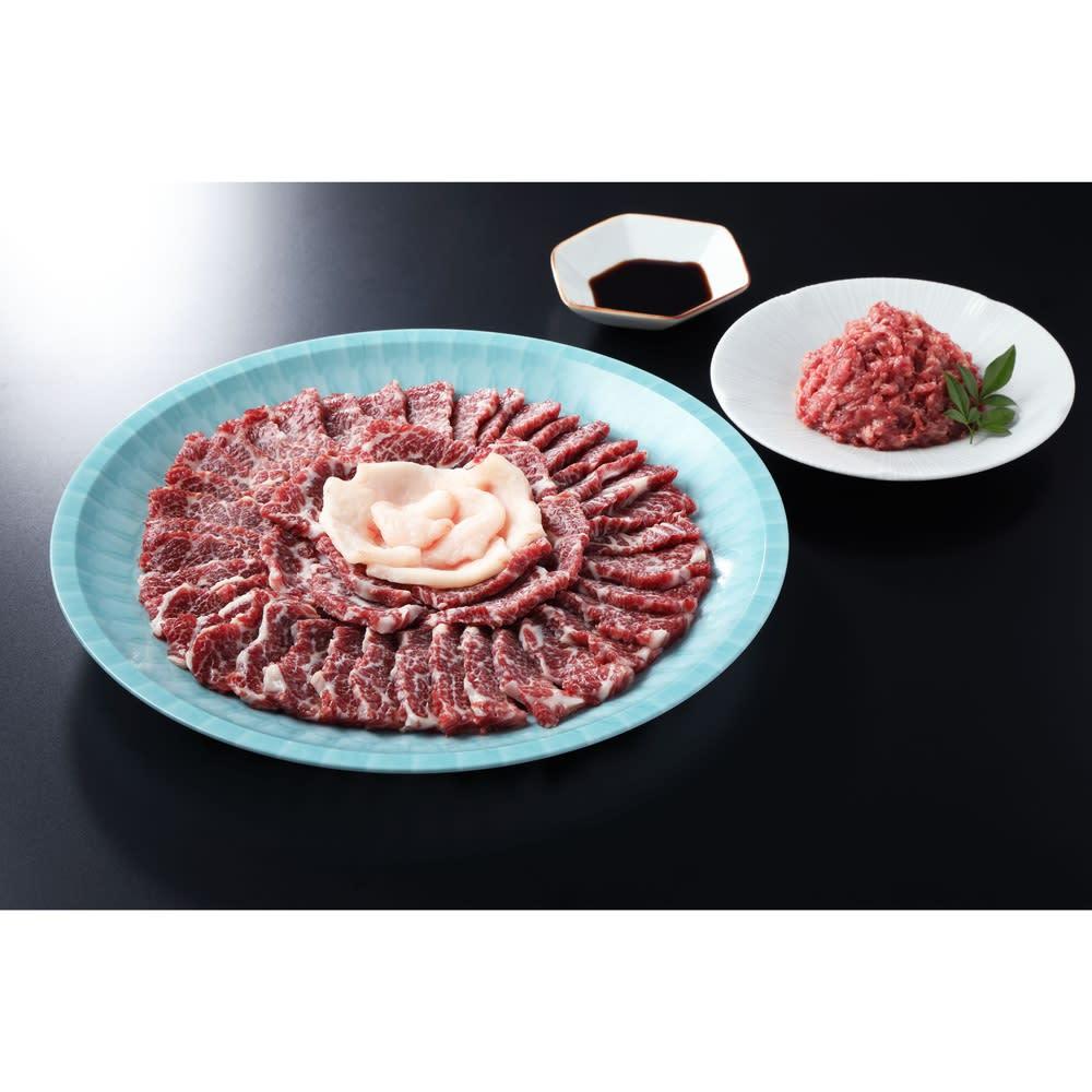 熊本 馬肉専門店「菅乃屋」 霜降り馬刺し皿盛セット