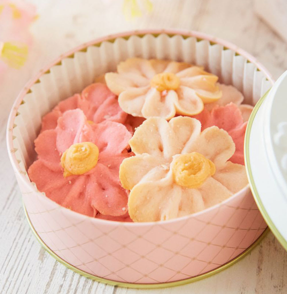 【母の日ギフト】Flower Picnic Cafe -HAKODATE- お花のぼうろ 3缶セット (各50g)