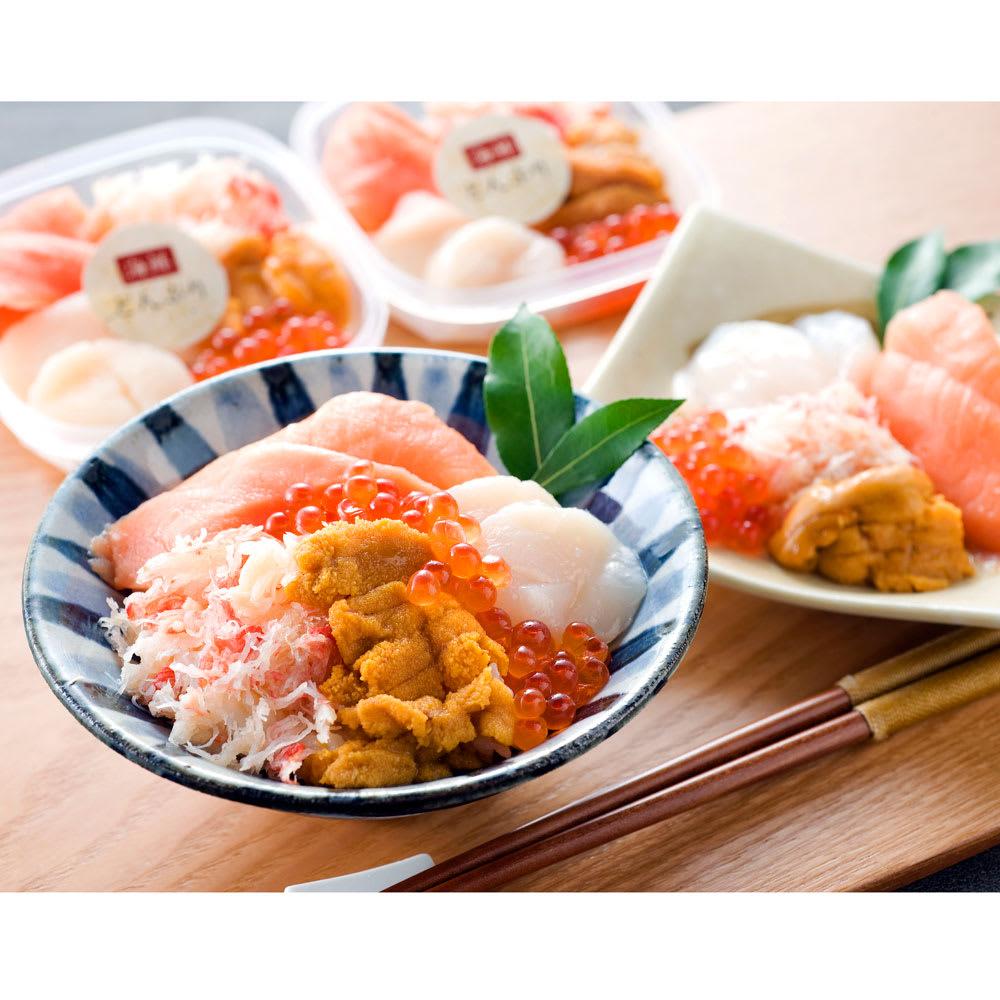 【生産者応援】札幌バルナバフーズ 海鮮丼の具 (60g×4個)