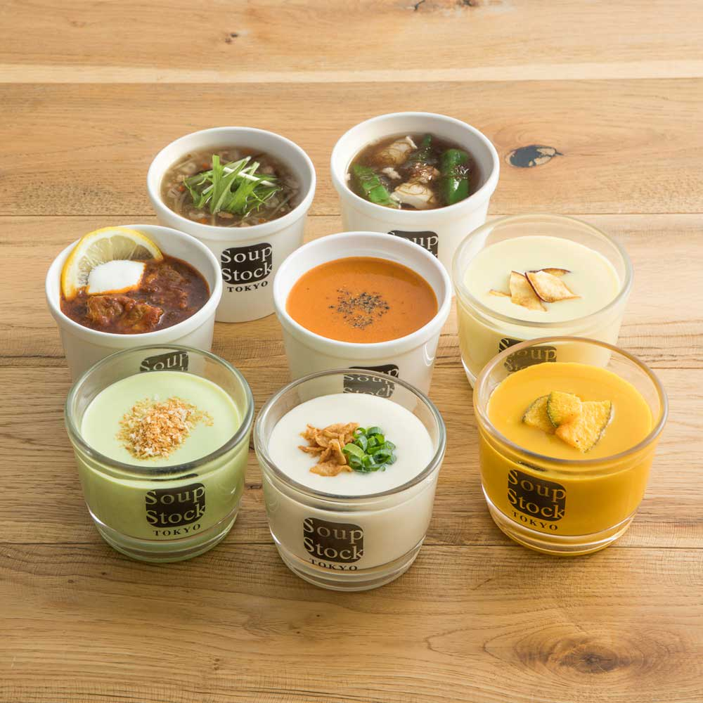 Soup Stock Tokyo(スープストックトーキョー) 冷たいスープと人気のスープセット(各180g 計8袋)