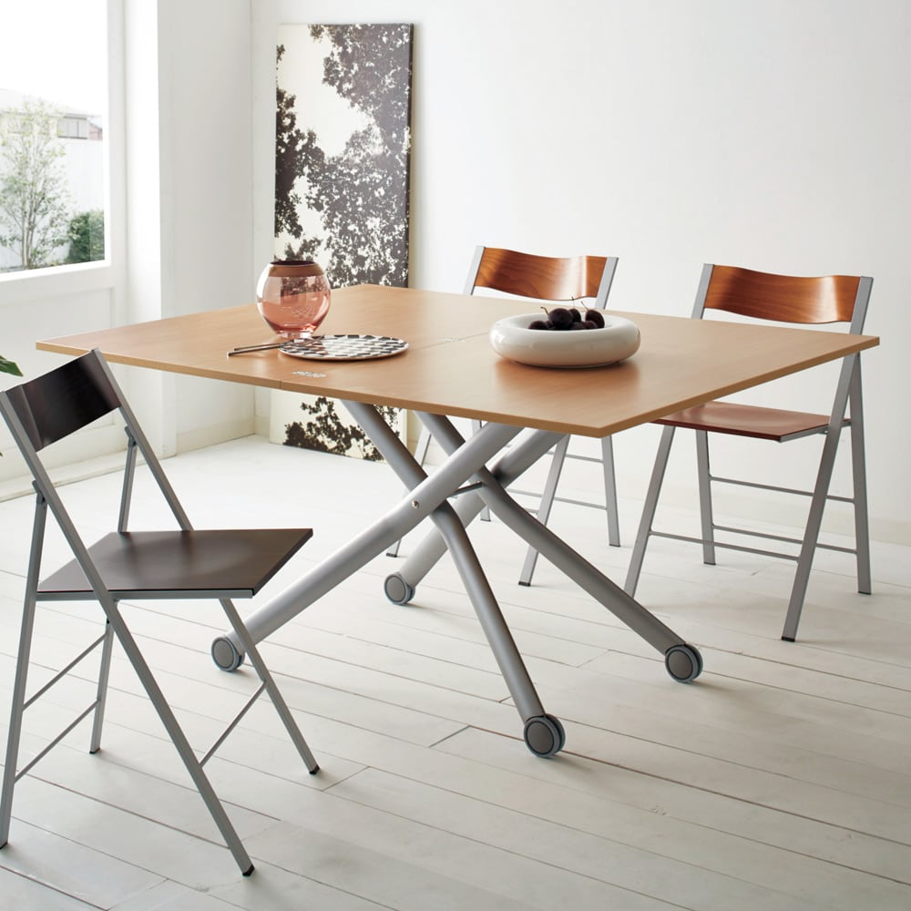 Lift-Up リフトアップ イタリア製昇降エクステンションテーブル テーブル幅110cm×70cm