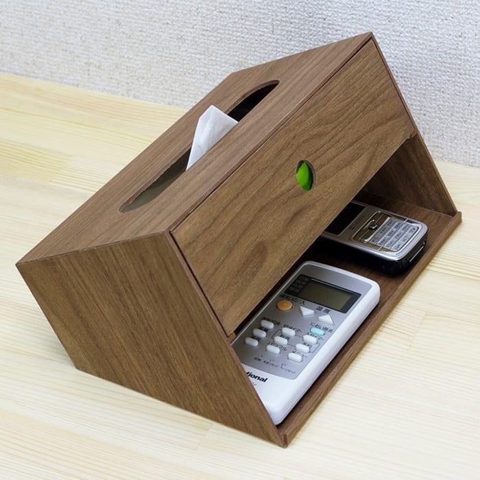 バスク 小物収納できるティッシュボックス/ティッシュケース