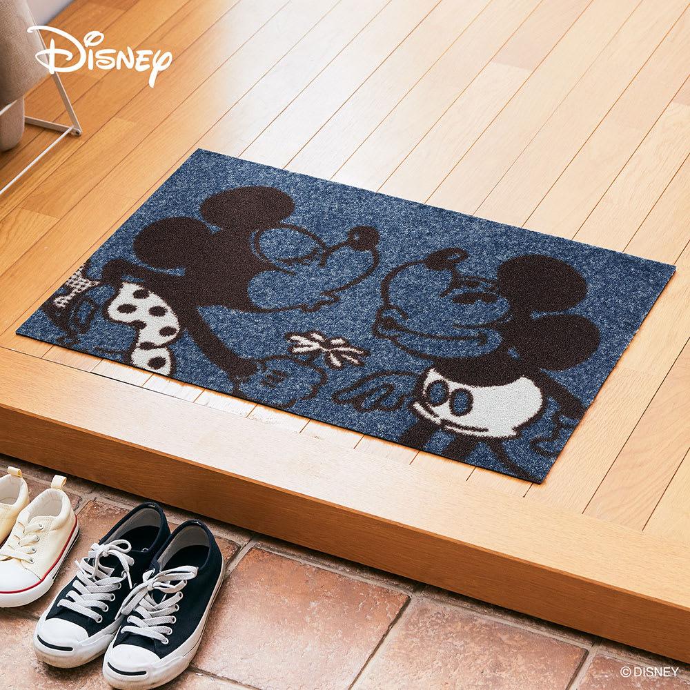 玄関マット Mickey/ミッキー&ミニー 50×75cm[Disney/ディズニー]