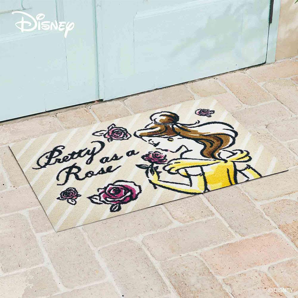 玄関マット 美女と野獣 ベル 50×75cm[Disney/ディズニー]