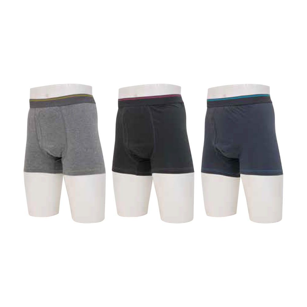 失禁・尿漏れ用下着 スマートボクサーパンツ 男性用 3色組