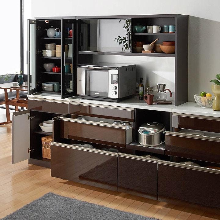 高機能 モダンシックキッチン キッチンボード 幅120奥行45高さ178cm 659504