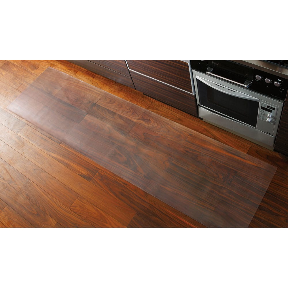 アキレス透明キッチンフロアマット(奥行120cm) 使用イメージ ※画像は奥行60cmタイプです。