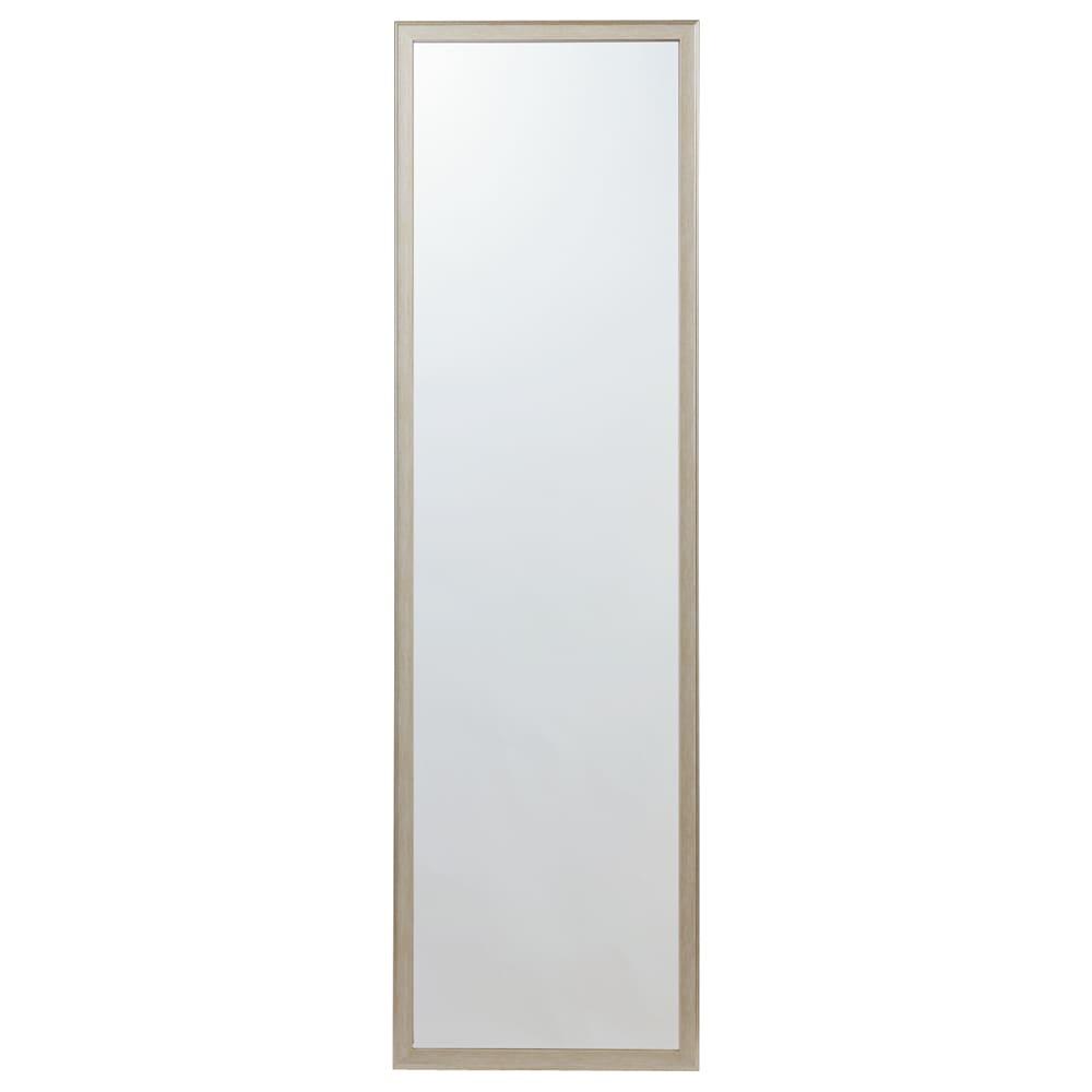 割れないミラー 額装風 樹脂フレーム 幅45×高さ155cm、重さ2.6kg(ミラーサイズ 39×149cm)